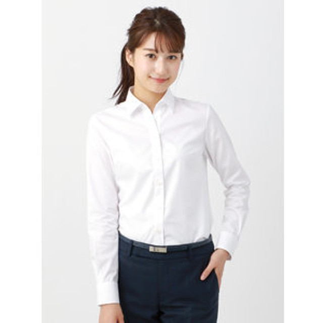【THE SUIT COMPANY:トップス】<THERMO LITE>【destyle】Easy Care Blouse スキッパーカラー