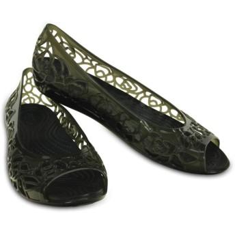 【クロックス公式】 クロックス イザベラ ジェリー フラットウィメン Women's Crocs Isabella Jelly Flat ウィメンズ、レディース、女性用 ブラック/黒 21cm,22cm,23cm,24cm,25cm,26cm flat フラットシューズ バレエシューズ ぺたんこシューズ