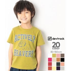 devirock デビロック ロゴプリントTシャツ キッズ