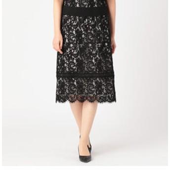 【COMME CA:スカート】フラワーレース セミタイトスカート