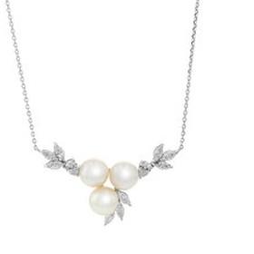 【Milluflora:アクセサリー】6月誕生石 シルバー ロジウムメッキ あこや真珠 ネックレス