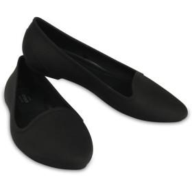 【クロックス公式】 クロックス イヴ フラット ウィメン Women's Crocs Eve Flat ウィメンズ、レディース、女性用 ブラック/黒 21cm,22cm,23cm,24cm,25cm,26cm flat フラットシューズ バレエシューズ ぺたんこシューズ 30%OFF