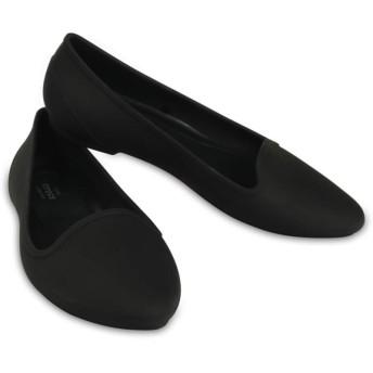 【クロックス公式】 クロックス イヴ フラット ウィメン Women's Crocs Eve Flat ウィメンズ、レディース、女性用 ブラック/黒 21cm,22cm,23cm,24cm,25cm,26cm flat フラットシューズ バレエシューズ ぺたんこシューズ