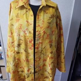 綸子からのシャツスタイルのコート