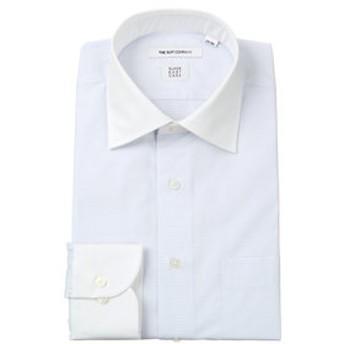 【THE SUIT COMPANY:トップス】【SUPER EASY CARE】クレリック&ワイドカラードレスシャツ チェック 〔EC・FIT〕