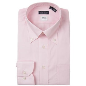 【THE SUIT COMPANY:トップス】ボタンダウンカラードレスシャツ 無地 〔EC・CLASSIC SLIM-FIT〕
