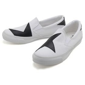 【ABC-MART:シューズ】32461040 SKIDGRIP BS SLIP-ON WHITE/BLACK 564766-0001