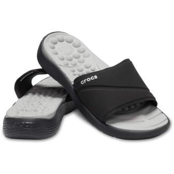 【クロックス公式】 リバイバ スライド ウィメン Reviva Slide W ウィメンズ、レディース、女性用 ブラック/黒 21cm,22cm,23cm,24cm slide スライドサンダル スポーツサンダル シャワーサンダル サンダル