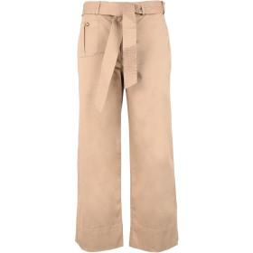 《期間限定セール開催中!》LAUREN RALPH LAUREN レディース パンツ キャメル 8 コットン 97% / ポリウレタン 3% BELTED TWILL WIDE-LEG PANT