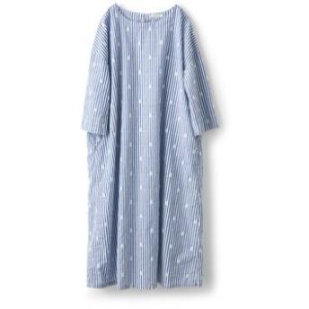 水玉泡玉サックドレス〈レディース〉 サニークラウズ フェリシモ FELISSIMO【送料無料】
