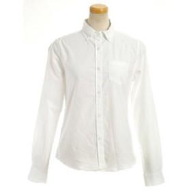 【Super Sports XEBIO & mall店:トップス】オックスストレッチ ボタンダウンシャツ 872C5XU3363 WHT