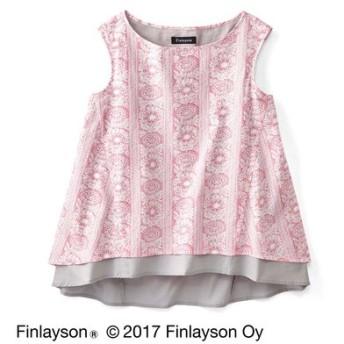 Finlayson フィンレイソン 色の重なりを楽しむノースリーブトップス〈タイミ〉 フェリシモ FELISSIMO【送料無料】