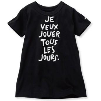 コットン素材のロゴがおしゃれな長め丈Tシャツ フェリシモ FELISSIMO【送料:450円+税】