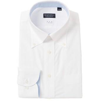 【THE SUIT COMPANY:トップス】【NON IRON】ボタンダウンカラードレスシャツ 織柄 〔EC・CLASSIC SLIM-FIT〕