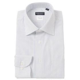 【THE SUIT COMPANY:トップス】【NON IRON】ワイドカラードレスシャツ ストライプ 〔EC・CLASSIC SLIM-FIT〕