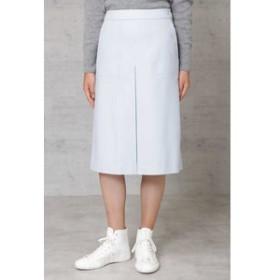 【HUMAN WOMAN:スカート】ウールフラノ台形スカート