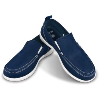 【クロックス公式】 ワルー スリップオン メン Men's Walu Slip-On メンズ、紳士、男性用 ブルー/青 26cm,27cm,28cm,29cm loafer ローファー 靴
