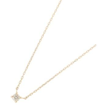 COCOSHNIK(ココシュニック) ダイヤモンド爪留めネックレス