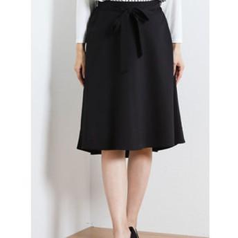 【TAKA-Q:スカート】ジャガード共ベルト付ヘムスカート