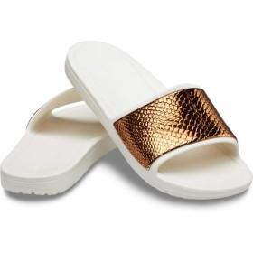 【クロックス公式】 クロックス スローン メタリック テクスチャー スライド ウィメン Women's Crocs Sloane Metallic Texture Slide ウィメンズ、レディース、女性用 ブラウン/茶 23cm,24cm slide スライドサンダル スポーツサンダル シャワーサンダル サンダル