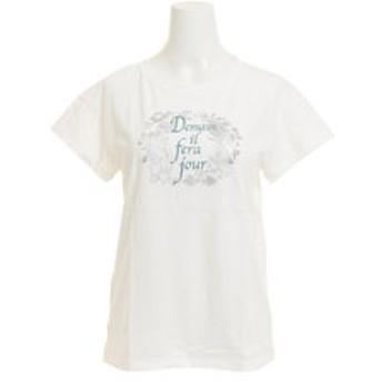【Super Sports XEBIO & mall店:トップス】Tシャツ レディース 半袖 T/C DROP SHOULDER HU18SCD864412WHT