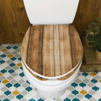 貼るだけで簡単リメイク カットできるトイレふたカバー〈木目柄〉の会 フェリシモ FELISSIMO【送料:450円+税】
