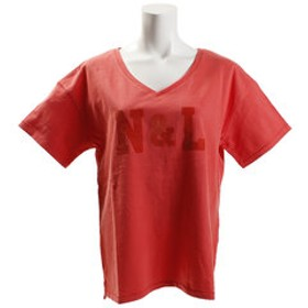 【Super Sports XEBIO & mall店:トップス】Vネック N & L 半袖Tシャツ 864EK8UK5825PNK