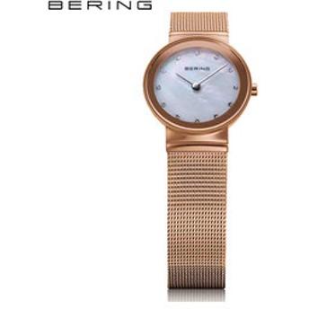 【THE WATCH SHOP.:時計】ベーリング[BERING] カービングメッシュ[CURVING MESH] 10126-366 スワロフスキー パール 北欧デザイン サファイアガラス レディース