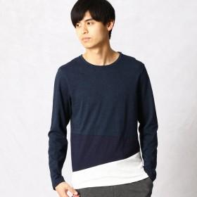 [マルイ]【セール】アシンメトリー カラーコンビTシャツ/コムサメン(COMME CA MEN)