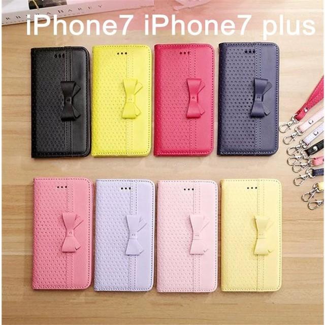 c9015001a6 iPhone7 Plus ケース 手帳型 かわいい リボン スマホケース iPhone7カバー レザー カード収納 アイフォン7/