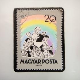 ハンガリー 童話切手ブローチ4850
