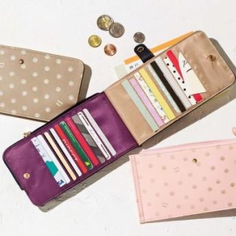 シェルモチーフで気分も運気も上向きに! 20枚が見渡せる極薄カード財布の会 フェリシモ FELISSIMO【送料無料】