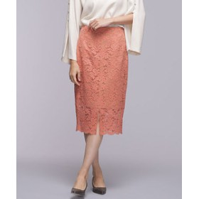 【nano・universe:スカート】カラーレースタイトスカート