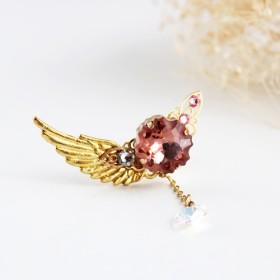 【数量限定】―Jellyfish―海月星のイヤーカフ☆Swarovski crystal(ブラッシュローズ)