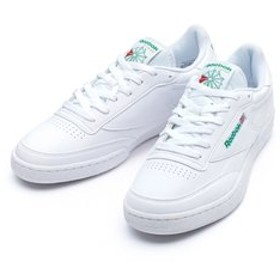 【ABC-MART:シューズ】BS7770 CLUB C 85 BASIC WHITE/GREEN 563103-0001
