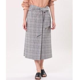 INED / イネド ウエストリボンラップ風スカート