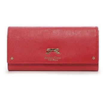 【Samantha Thavasa Petit Choice:財布/小物】シンプルリボンプレートかぶせ長財布