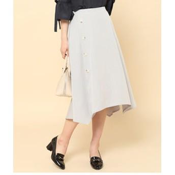 【ROPE' PICNIC:スカート】サイドボタンスカート