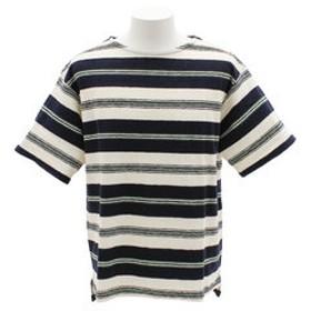 【Super Sports XEBIO & mall店:トップス】パネルボーダー 半袖Tシャツ 8512122-60NAV