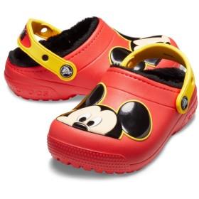 【クロックス公式】 クロックス ファン ラブ ラインド ミッキー クロッグ キッズ Kids' Crocs Fun Lab Lined Mickey Mouse Clog ボーイズ、キッズ、子供用、男の子 レッド/赤 15.5cm,18.5cm,19cm,20cm,21cm clog クロッグ サンダル