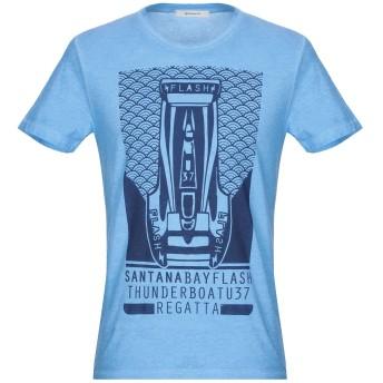 《期間限定セール開催中!》WOOL & CO メンズ T シャツ アジュールブルー S コットン 100%