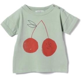 BOBO CHOSES / ベビー プリント Tシャツ 9 (ユニセックス 6ヶ月~3才) キッズ Tシャツ cherry 6-12m