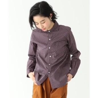 BEAMS BOY / 小紋 カッタウェイ シャツ レディース カジュアルシャツ NAVY ONE SIZE
