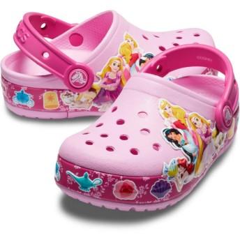 【クロックス公式】 クロックス ファン ラブ プリンセス バンド ライツ クロッグ キッズ Kids' Crocs Fun Lab Multi-Princess Band Lights Clog ガールズ、キッズ、子供用、女の子 ピンク/ピンク 15.5cm,16.5cm,17.5cm,18cm,18.5cm,19cm,19.5cm,20cm,21cm clog クロッグ サンダル