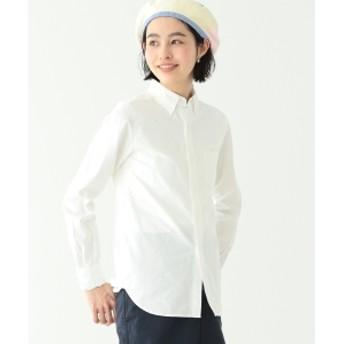 BEAMS BOY / BB刺繍 オックスフォード ボタンダウン シャツ レディース カジュアルシャツ WHITE 1