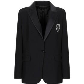 《セール開催中》ANNARITA N レディース テーラードジャケット ブラック 42 ポリエステル 97% / ポリウレタン 3%