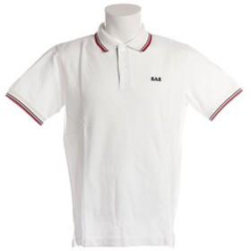 【Super Sports XEBIO & mall店:トップス】鹿の子ラインポロシャツ SAS1754405-1-WHT