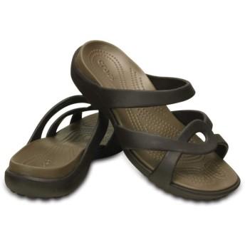 【クロックス公式】 メレーン ツイスト サンダル ウィメン Women's Meleen Twist Sandal ウィメンズ、レディース、女性用 ブラウン/茶 21cm,22cm,23cm,24cm,25cm sandal サンダル 40%OFF