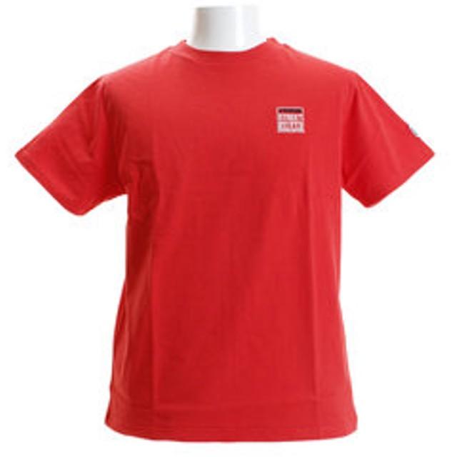 【Super Sports XEBIO & mall店:トップス】ワンポイント刺繍Tシャツ 8523172-12RED