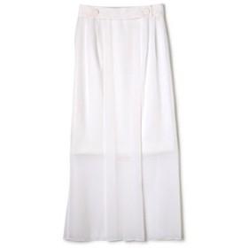 【ADORE:スカート】トリアセシフォン2枚重ねスカート